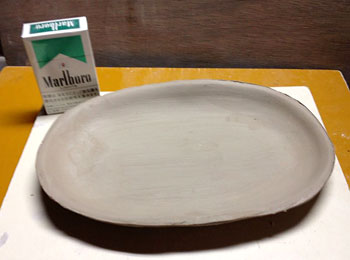 田代楕円皿生地