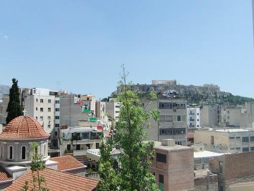 アテネ_窓から見るアクロポリス
