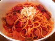 PASTA 辛トマトソースのベーコンパスタ