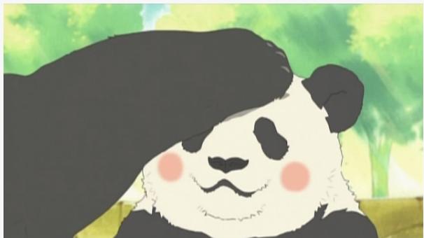 パンダ君なでなで