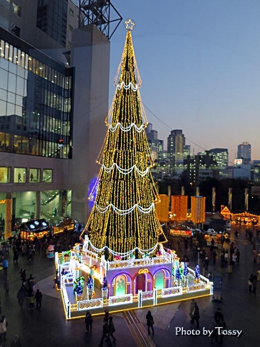 スカイビルのクリスマスツリー