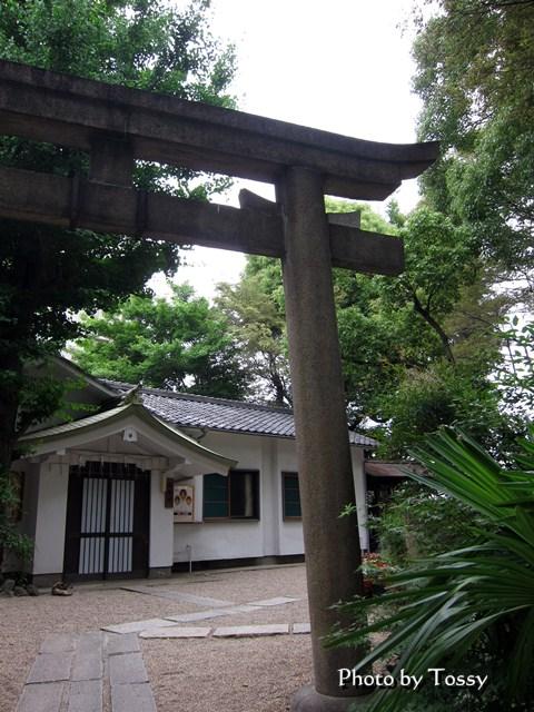 安居神社 鳥居と社務所