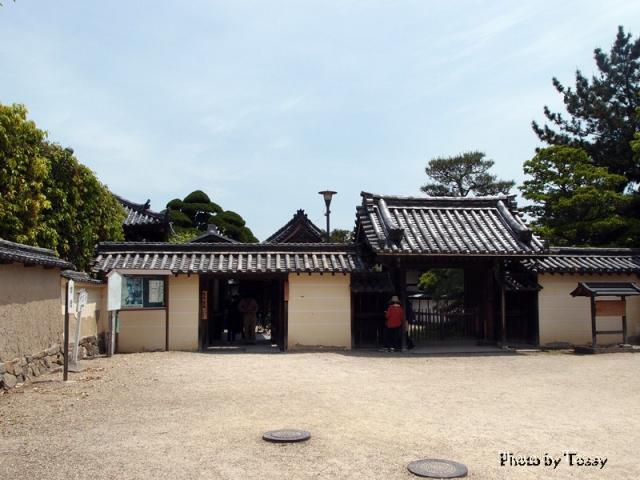 中宮寺入口