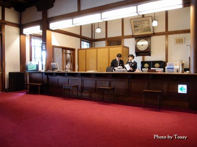 奈良ホテルフロント