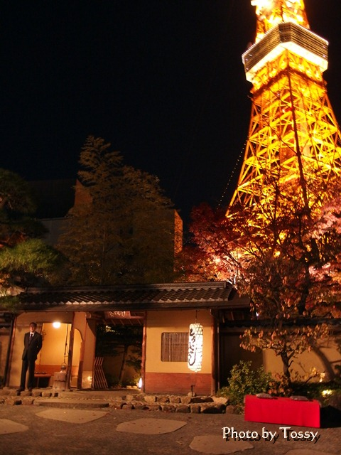 とうふ屋鵜飼入口とタワー