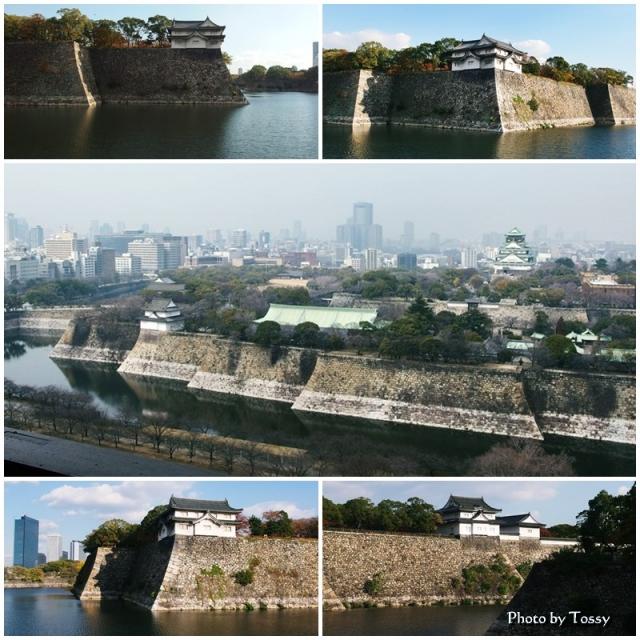 大阪城の外堀 石垣
