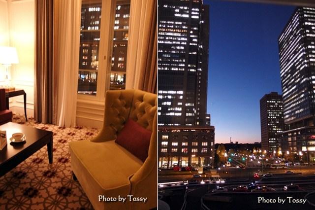 室内窓辺と窓の外眺め