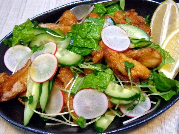 鶏軟骨 唐揚げサラダ01