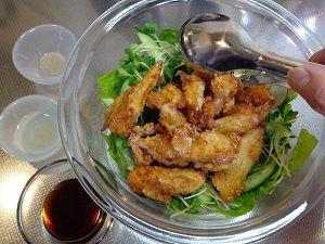 鶏軟骨 唐揚げサラダ07