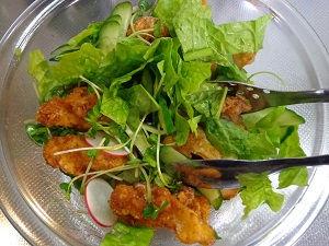 鶏軟骨 唐揚げサラダ08