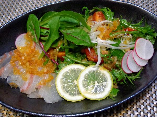 鯛のカルパッチョ 涼感サラダ仕立て01