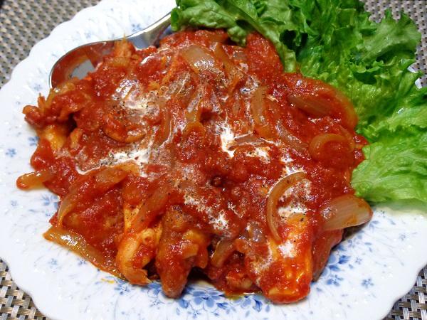 鶏軟骨の唐揚げ トマトソース煮01