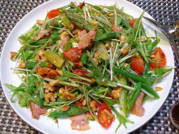 水菜サラダ(カシューナッツ入り)01