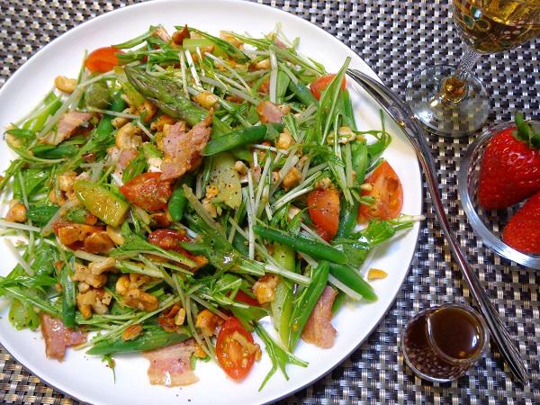 水菜サラダ(カシューナッツ入り)11