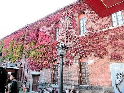 函館の壁紅葉