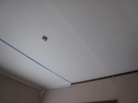 和紙クロスを重ね貼 天井
