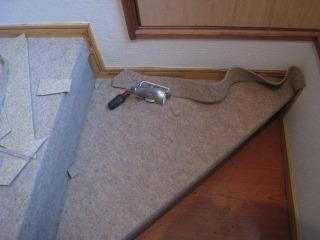階段貼はじめ