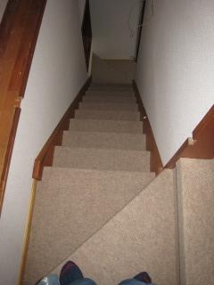 階段パンチ貼完