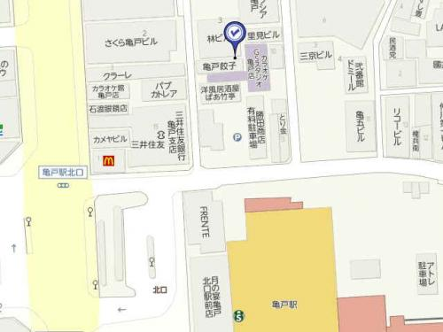 亀戸餃子地図