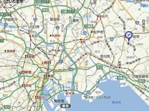 鎌ヶ谷大仏地図