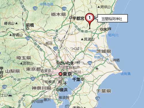 笠間稲荷地図