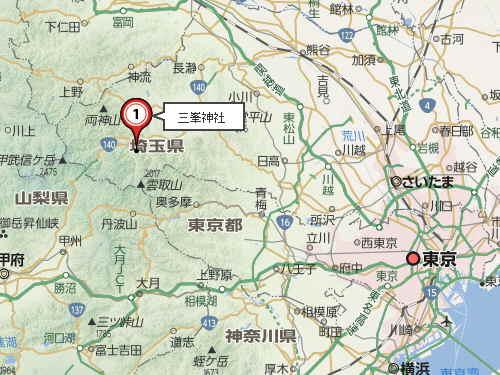 三峯神社地図