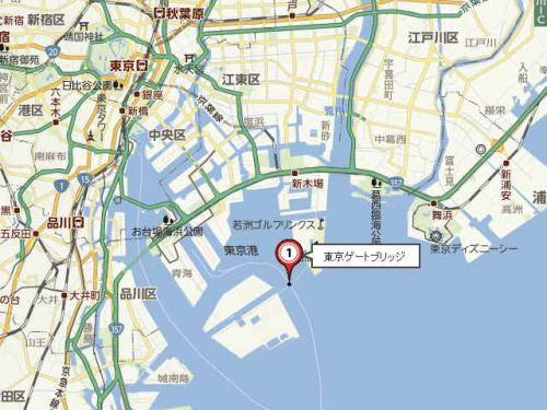 ゲートブリッジ地図