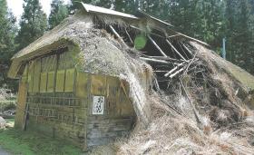 崩れ落ちたおしんの生家