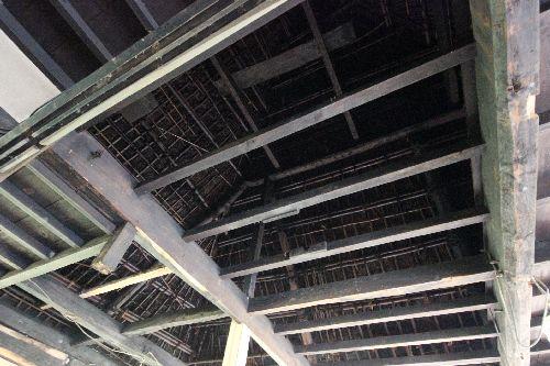 元茅葺農家の天井