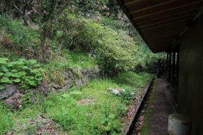 主屋の裏の石垣