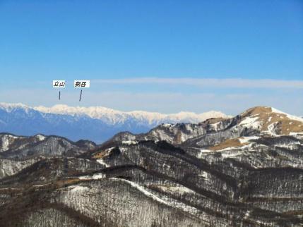 立山、剣岳も