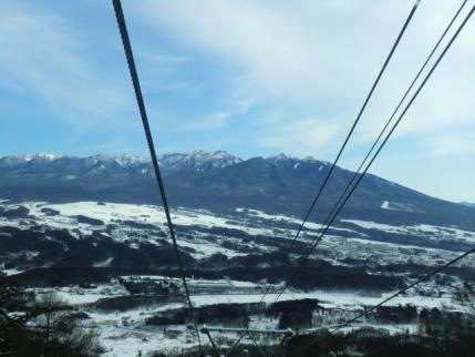 ゴンドラから南八ヶ岳