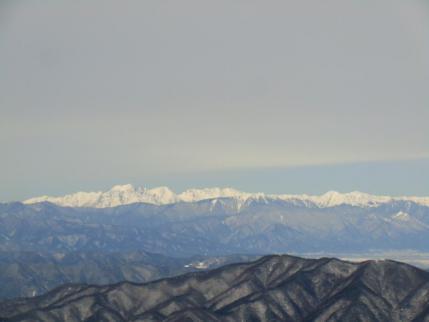 穂高連峰から常念岳、大天井岳