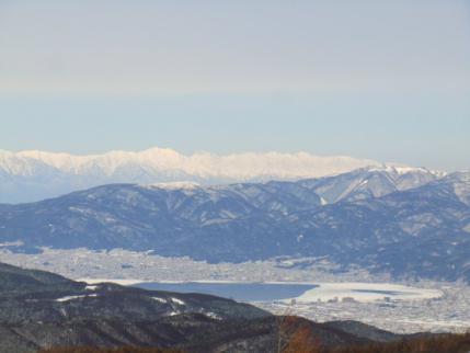 諏訪湖、後立山連峰