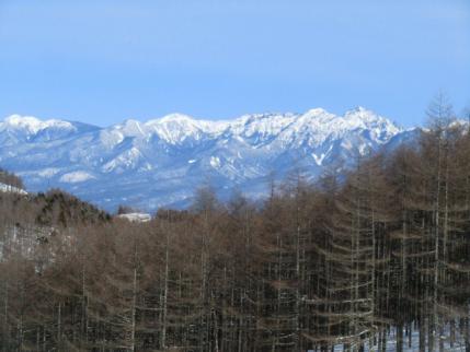 青空に八ヶ岳