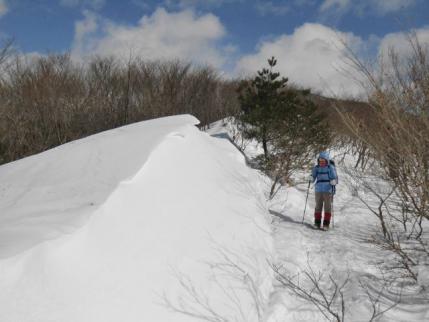 雪庇の高さ