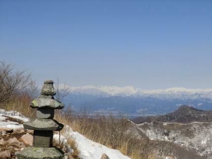 地蔵岳山頂から谷川方面