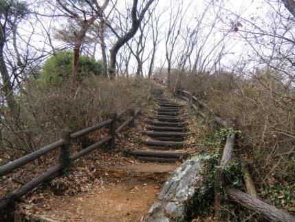 中岳への階段
