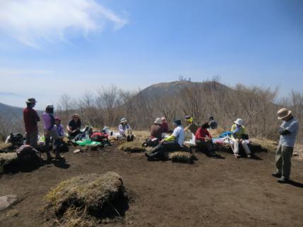 長七郎山でランチタイム
