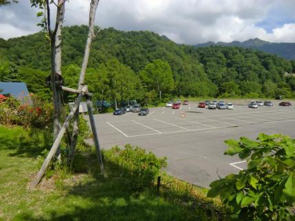 帰りの駐車場