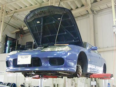 S15シルビアAutechVersionの車検中