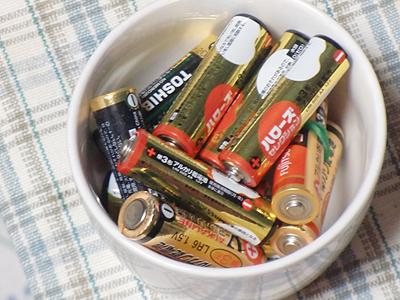 使い古した乾電池