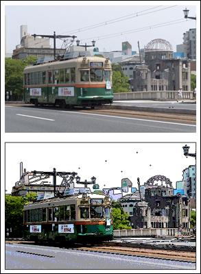 広島の路面電車を超簡単イラストで