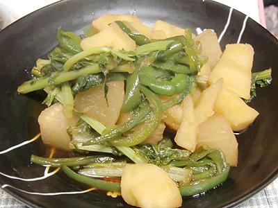 大恩とジャガイモの煮物