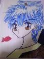 色鉛筆/パロディーキャラ:水谷百合風坂本竜馬