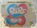 色鉛筆画/オリジナル:「ラブリーまるペンギン