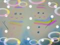 パステル画/メルヘン和み系:「ふたつの雪だるま」