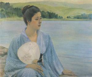 『湖畔』(1897年)黒田
