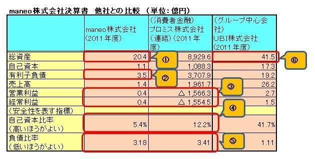 maneo財務分析(2012)