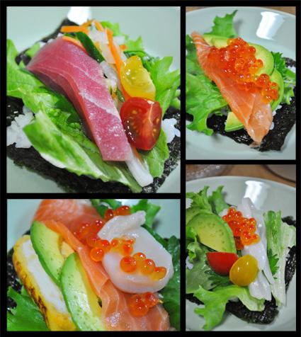 サラダ手巻き寿司